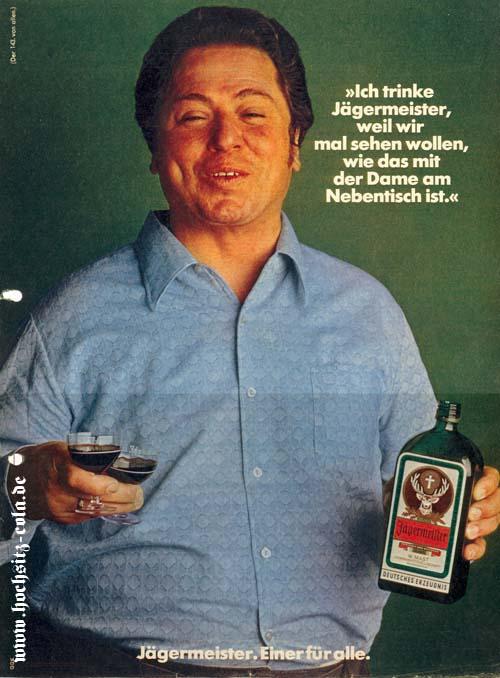 Ich trinke Jägermeister weil