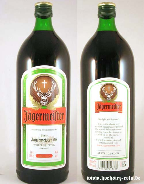 Runde Flasche Jägermeister Holland Niederlande