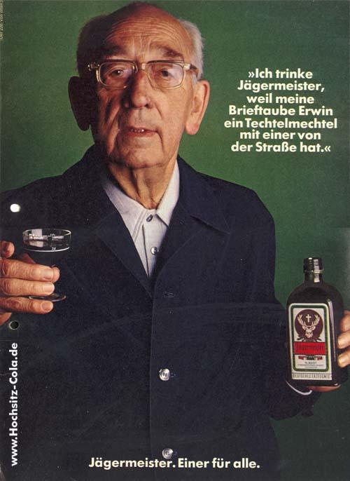 220 Ich trinke Jägermeister, weil Brieftauben