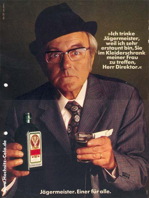 221 Ich trinke Jägermeister, weil Chef im Schrank