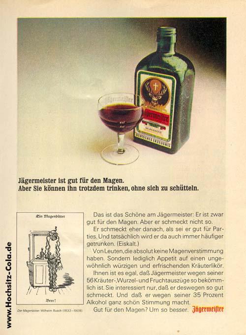 Jägermeister Anzeige 1972