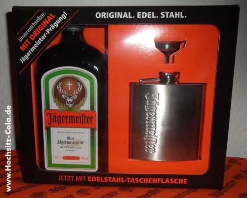 Jägermeister Edelstahl Taschenflasche Flachmann