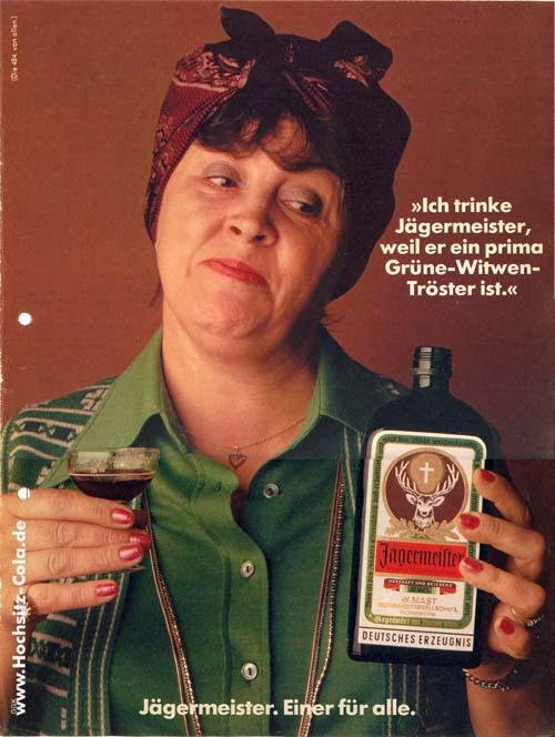 Jägermeister grüne Witwe