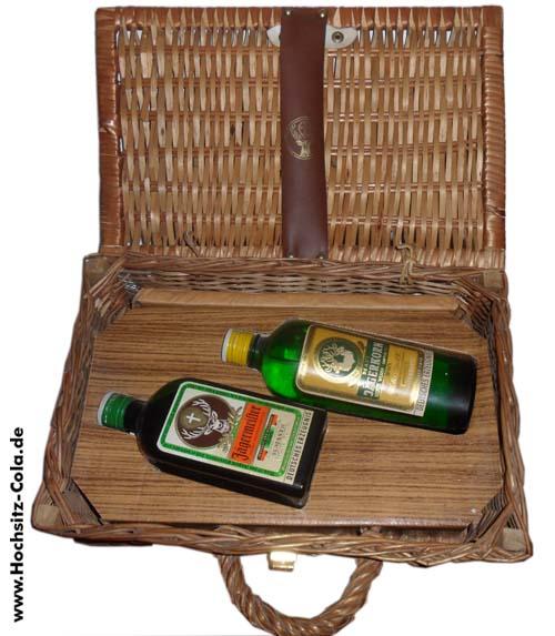 Jägermeister Jägerkorn Geschenkkorb Weidenkob