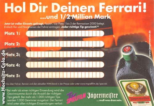 preisaufschreiben Jägermeister 2000