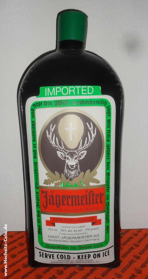 Aufblasbare Jägermeisterflasche USA