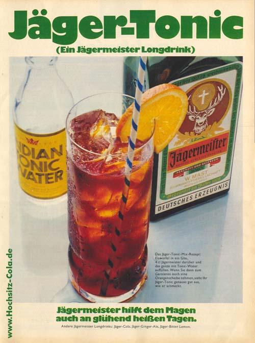Jäger Tonic Anzeige 1972