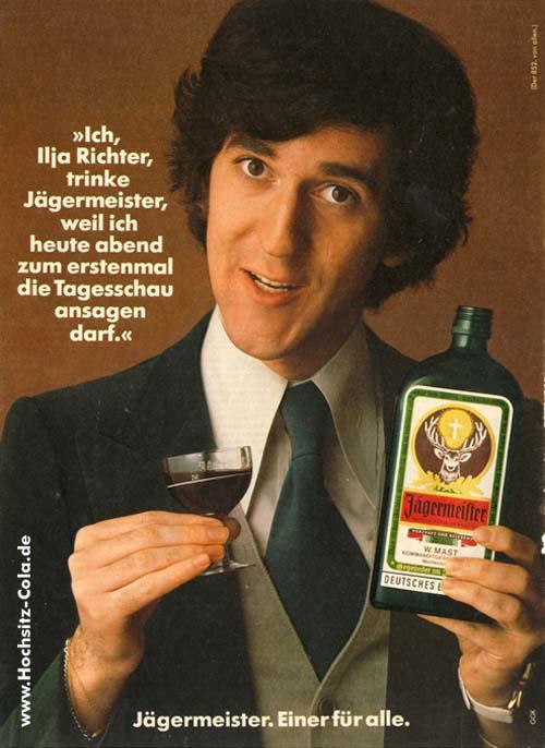 Ich, Illia Richter, trinke Jägermeister, weil ich heute abend zum ersten mal die Tagesschau ansagen darf