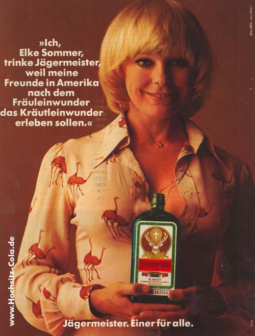 Elke Sommer Jägermeister