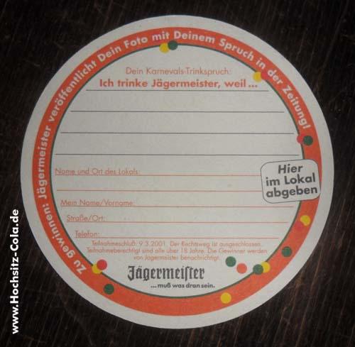 Jägermeister Untersetzer/Bierfilz #2