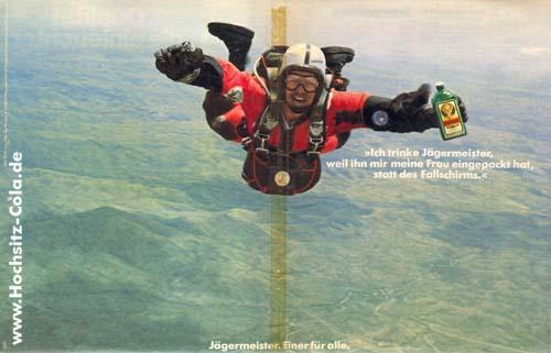 Fallschirm statt Jägermeister