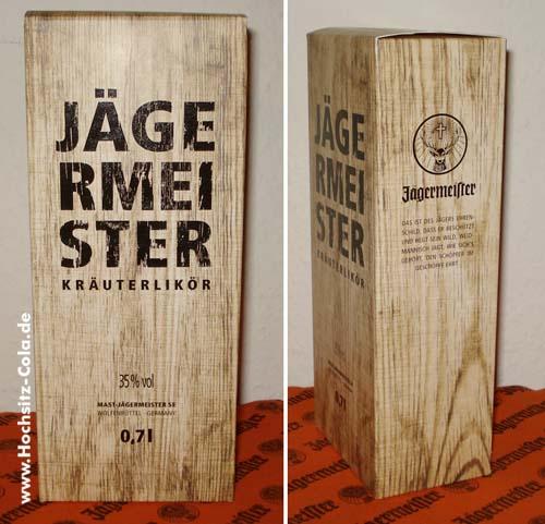 Jägermeister Geschenkkarton Holzdesign