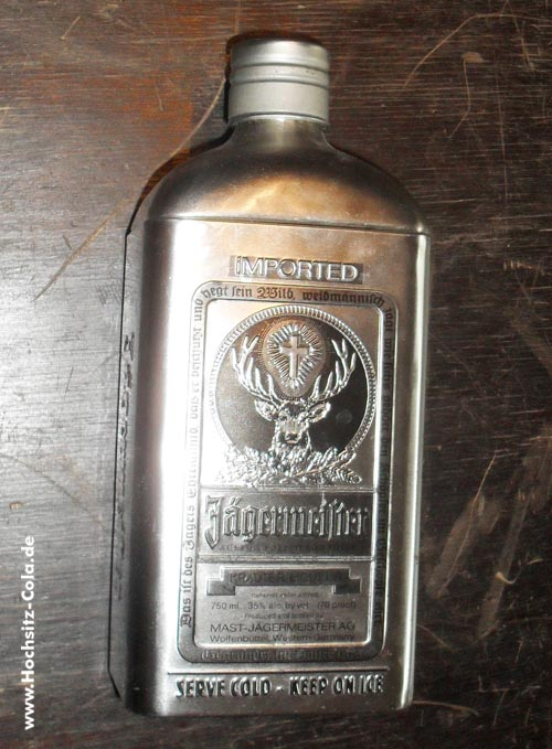 Jägermeister Blechflasche USA