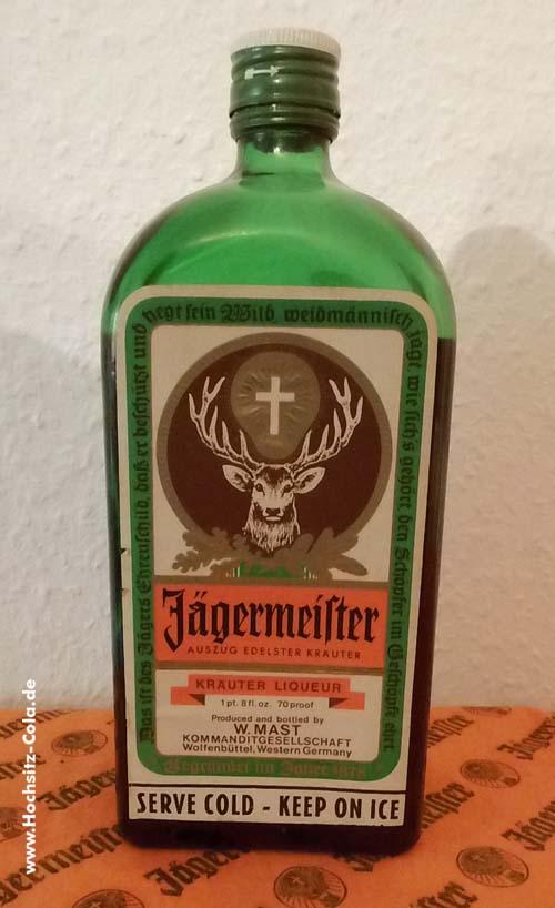 0,7l Flaschen Jägermeister W. Mast Kommanditgesellschaft international