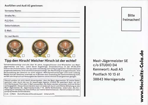 Jägermeister Preisaufschreiben