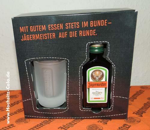 Aktuelle Jägermeister Geschenkpackung für die Gastronomie