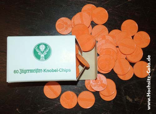 60 Jägermeister-Knobel-Chips