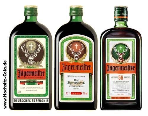 Vergleich alte neue Jägermeisterflaschen
