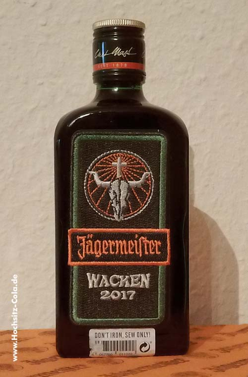 Jägermeister Wacken Flasche 2017
