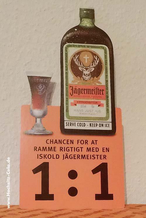 Jägermeister Pappaufsteller Dänemark