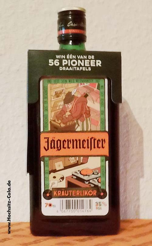 "0,7l Jägermeister Aktionsflasche Niederlande ""Plattenjäger"""