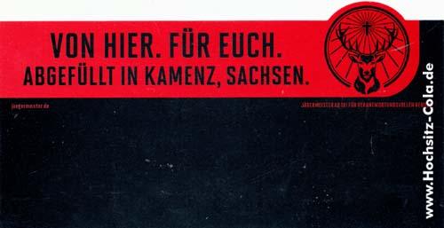 Jägermeister Zusatzschild Sachsen