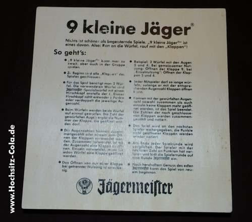 """Jägermeister Spiel """"9 kleine Jäger"""""""
