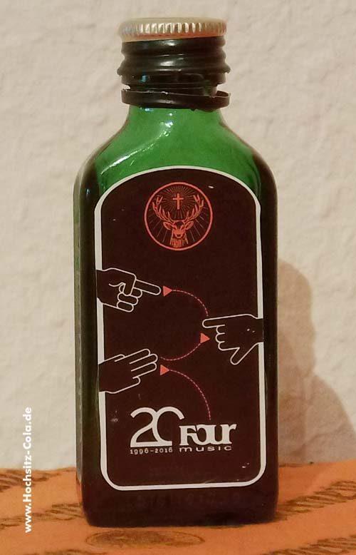 Jägermeister Flasche 0,02l 20 Jahre Four Music 2016
